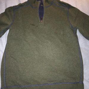 Tommy Bahama Reversable Quarter Zip Pullover,SizeL